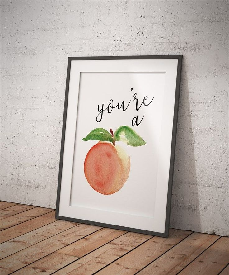Trendy watercolor prints are perfect for your kitchen decor!