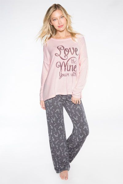 9b37b1fea PJ Salvage Love The Wine You re With Pajama Set
