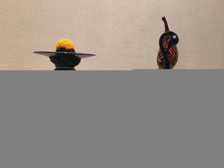 Scultura in vetro / scultura astratta in vetro / vetro di murano / murano glass / glass birds / murrine / monoliths di Sanmarcoartedesign su Etsy