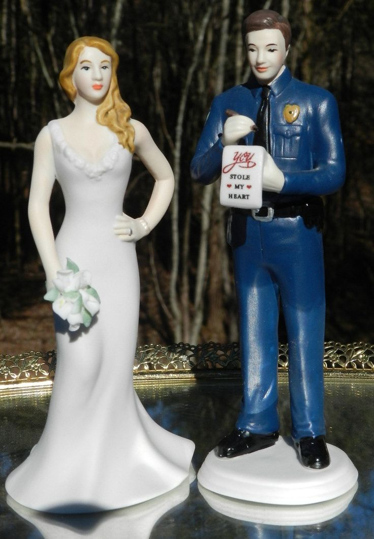 Police Officer cop uniform wedding cake topper by spartacarla, $74.88