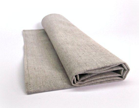 Natural cloth napkins Reusable table napkin by HomelikeLinen