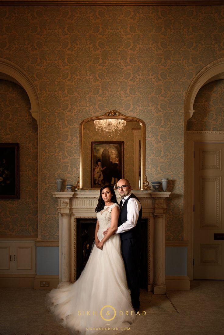 © SikhandDread Couple Portrait Heythrop Hotel, Oxfordshire