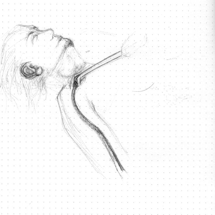 Sketching of the embalming process, clearing out fluids via the Subclavian.