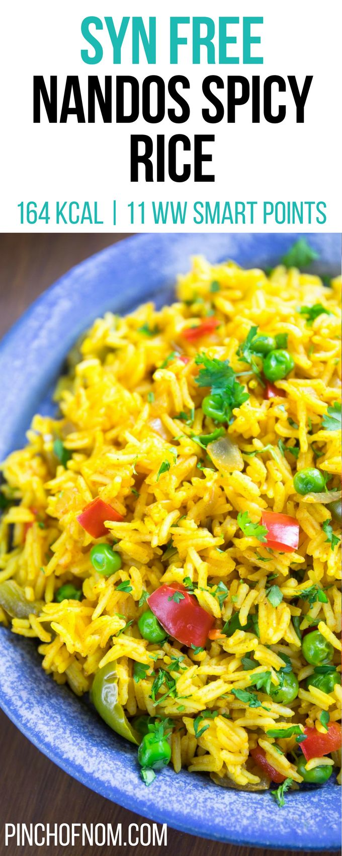 Syn Free Nandos Spicy Rice | Pinch Of Nom Slimming World Recipes     164 kcal | Syn Free | 11 Weight Watchers Smart Points