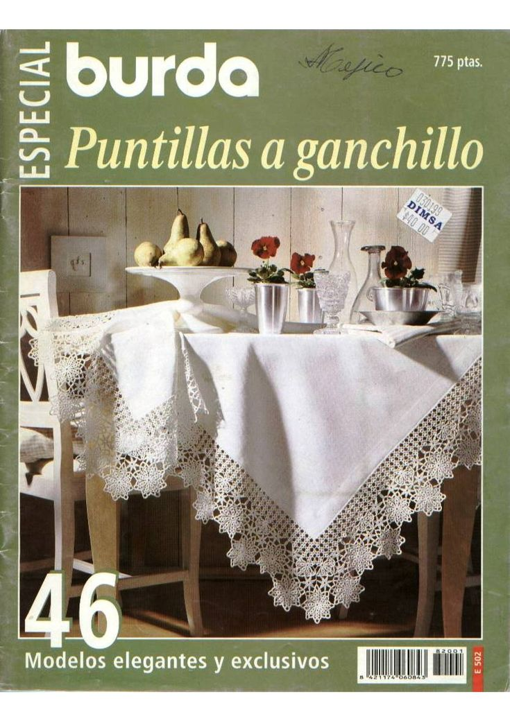 Crochet Craft - Several pretty and elegant projects, mainly small and big tablecloths and doilies.