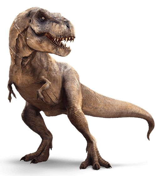 Yes, that's the same T-Rex from Jurassic Park in Jurassic World.