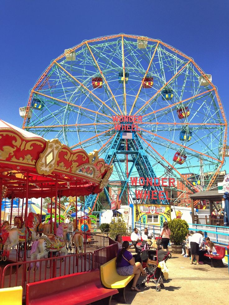 Dream #25 All my life I've wanted to go to Coney Island in Brooklyn, NY but somehow never made it. I love ferris wheels, carousels and old wooden roller coasters.