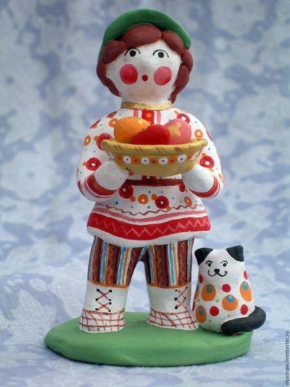 'Пасхальный мальчик' Дымковская игрушка в интернет-магазине на Ярмарке Мастеров…
