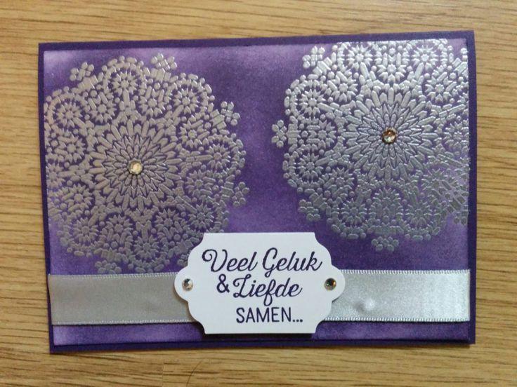 Moroccan Nights - Zilver Elegant Eggplant - trouwkaart - Het Knutsellab - Stampin Up #stampinup #crafts #knutselen #stempelen