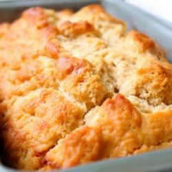 honey beer bread -- 5 minutes, simple ingredients, ridiculously delicious.