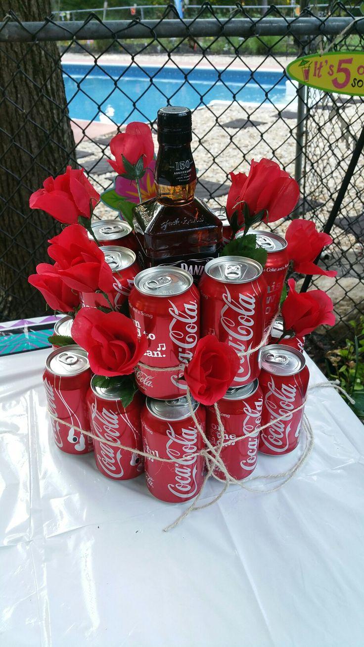 21st Birthday party:  Jack Daniels, Coke & roses