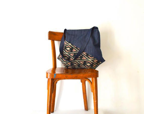 large shoulder bag large bag japanese bag kimono by UMEHARAKABAN