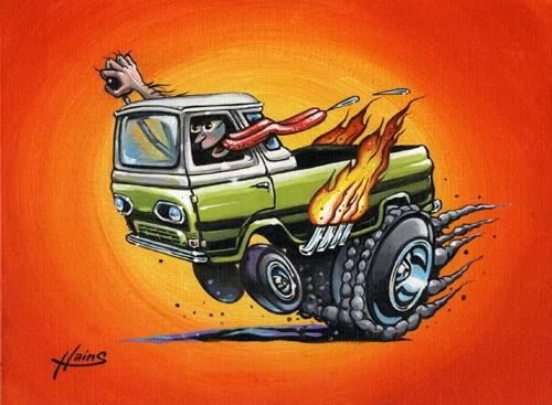 Metal Worx Inc >> weird rod cards | Original Cabover Boogie hot rod econoline by LoneCatStudios | Projects to Try ...