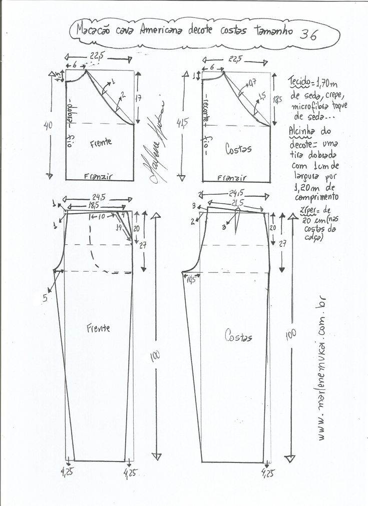 Patrones para hacer un jumpsuit largo