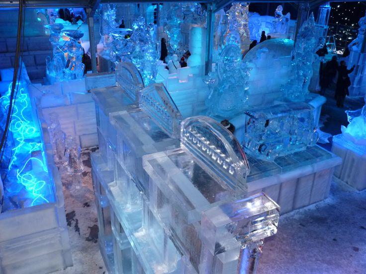 Arte con hielo en Brujas