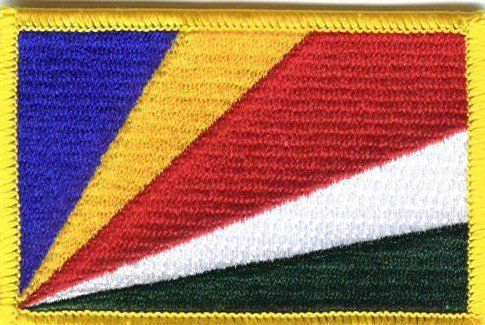"Seychelles - Country Rectangular Patch by flagline. $2.50. 2.25""x3.25"" Rectangular Embroidered Patch. Rectangular Embroidered Patch. High Quality. Can be sewn or ironed on. Great gift or travel idea!"
