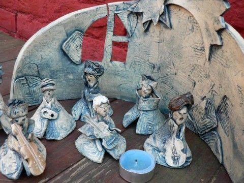 Půjdem spolu do Betléééma ... keramika betlém keramický anděl sperkyjoha ceramic angel