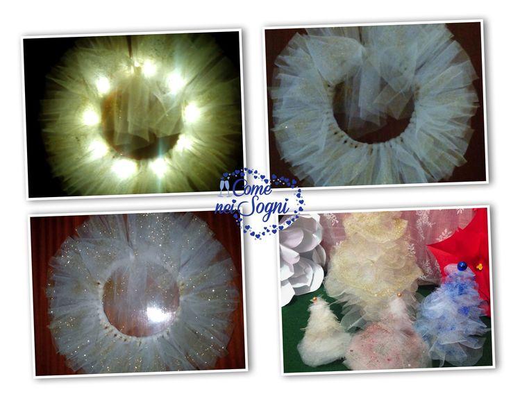 Allestimenti in Tulle per Natale  http://www.comeneisogni.com/wedding-planner-torino/handmade-perche-scegliere-oggetti-fatti-a-mano/