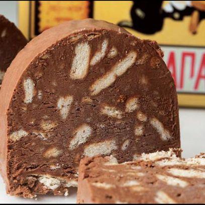 Σοκολατένιο μωσαϊκό σεμιφρέντο με μπισκότα ΠΤΙ-ΜΠΕΡ Παπαδοπούλου