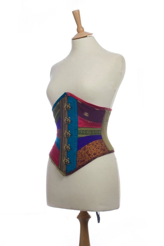 Gypsy Punk Swing Hook Rainbow Patchwork Corset by KiranLee on Etsy, £200.00