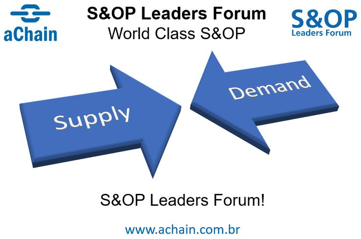 Participe do S&OP Leaders Forum! Conheça também as certificações CS&OP Sales and Operations Planning e CDFP Demanda e Forecast: www.achain.com.br e http://achain.com.br/eventos/sop/