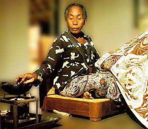 Batik techniques: painting on cloth