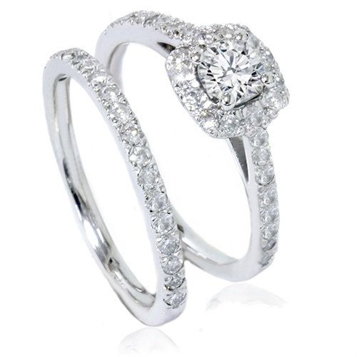 1.15CT Diamond Engagement Ring Matching Wedding Band by Pompeii3, $799.00 AWESOME :) Good price for a large carat size, and so pretty :) I Really really like this.... :) (#2)