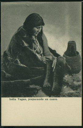India Yaghan de la Patagonia argentina