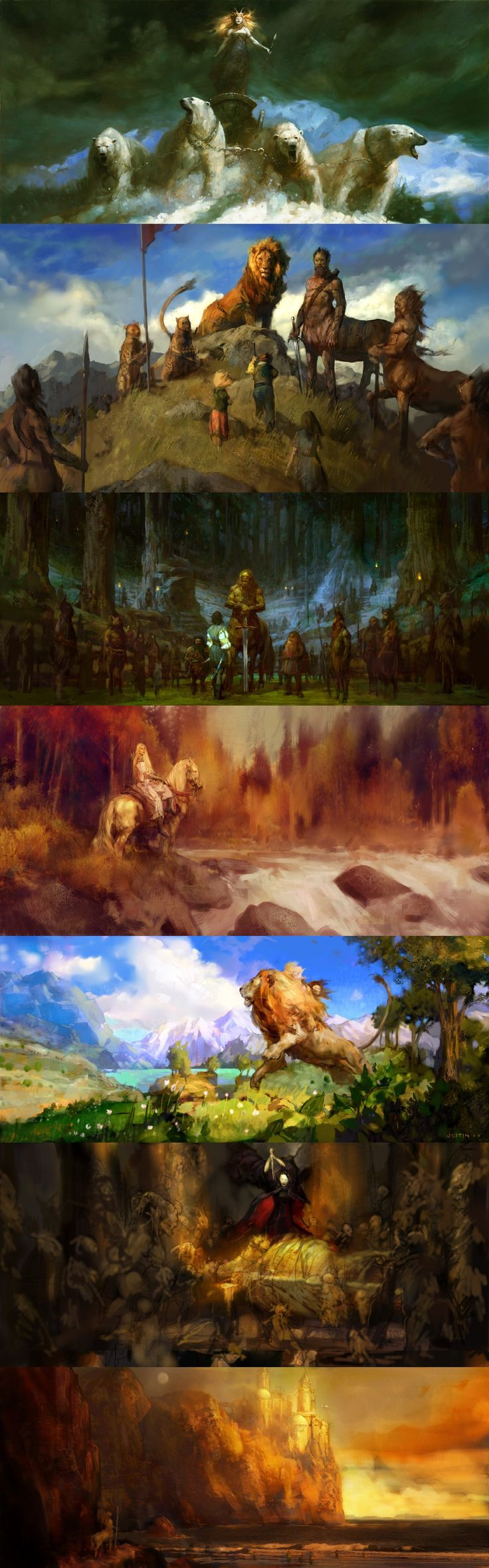 The Chronicles of Narnia concept art by Justin Sweet from knightofleo on Tumblr  #Narnia #FanArt #Aslan