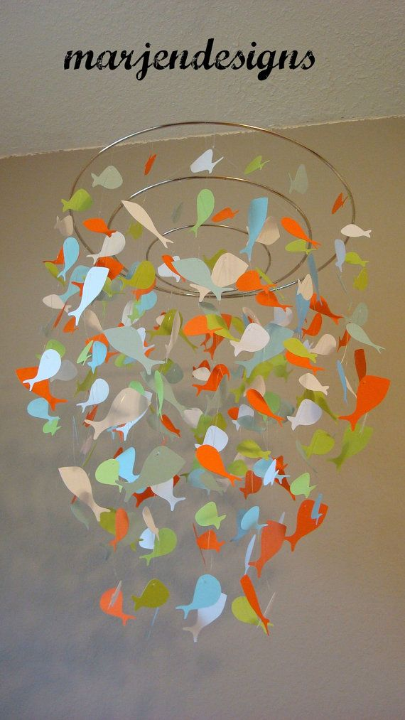 fish mobile colorful fish mobile modern fish by marjendesigns