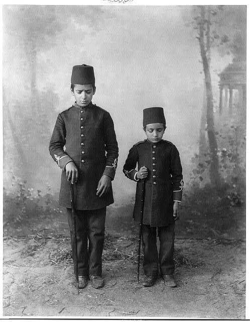 Students of the School for the Blind. Constantinople. Photograph by Abdullah Frères, photographes de S.M.I. le Sultan.