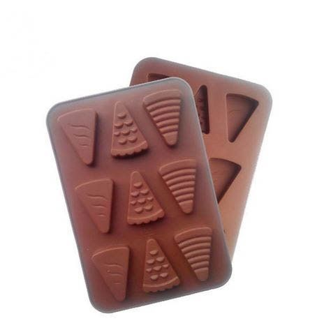 9 Cups Little Triangle Shape Chocolate Mould Ice Lattice Silicone Cake Molds Diy Kitchen Accessories Cake Baking Tools *** For more information, visit image link.