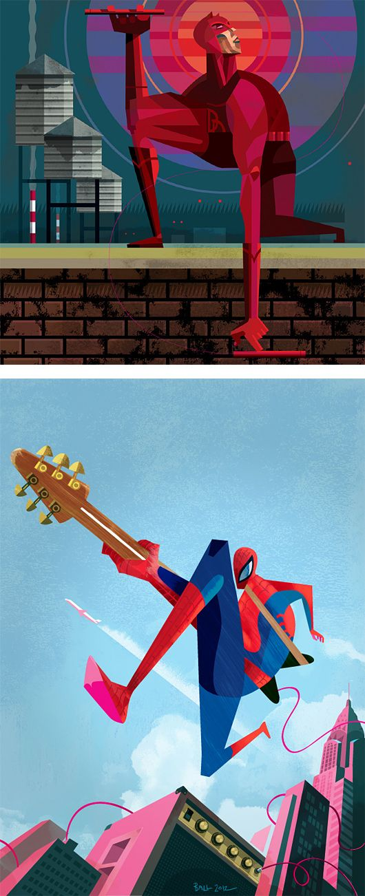Supers: Illustration Series by Robert M Ball