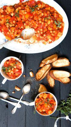 Stoofpotje met kikkererwten en pittige salami - Little Spoon
