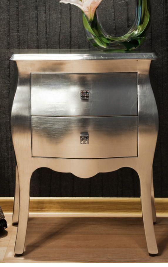 Martha Stewart Metallic paint & glaze: cheaper than mirrored furniture, easier than silver leaf.