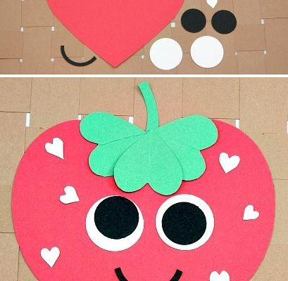 Heart Strawberry Craft ~