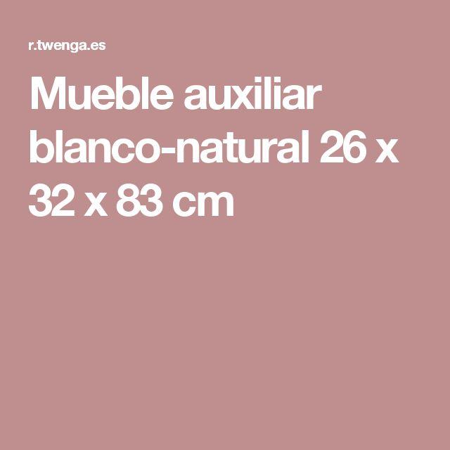 Mueble auxiliar blanco-natural 26 x 32 x 83 cm