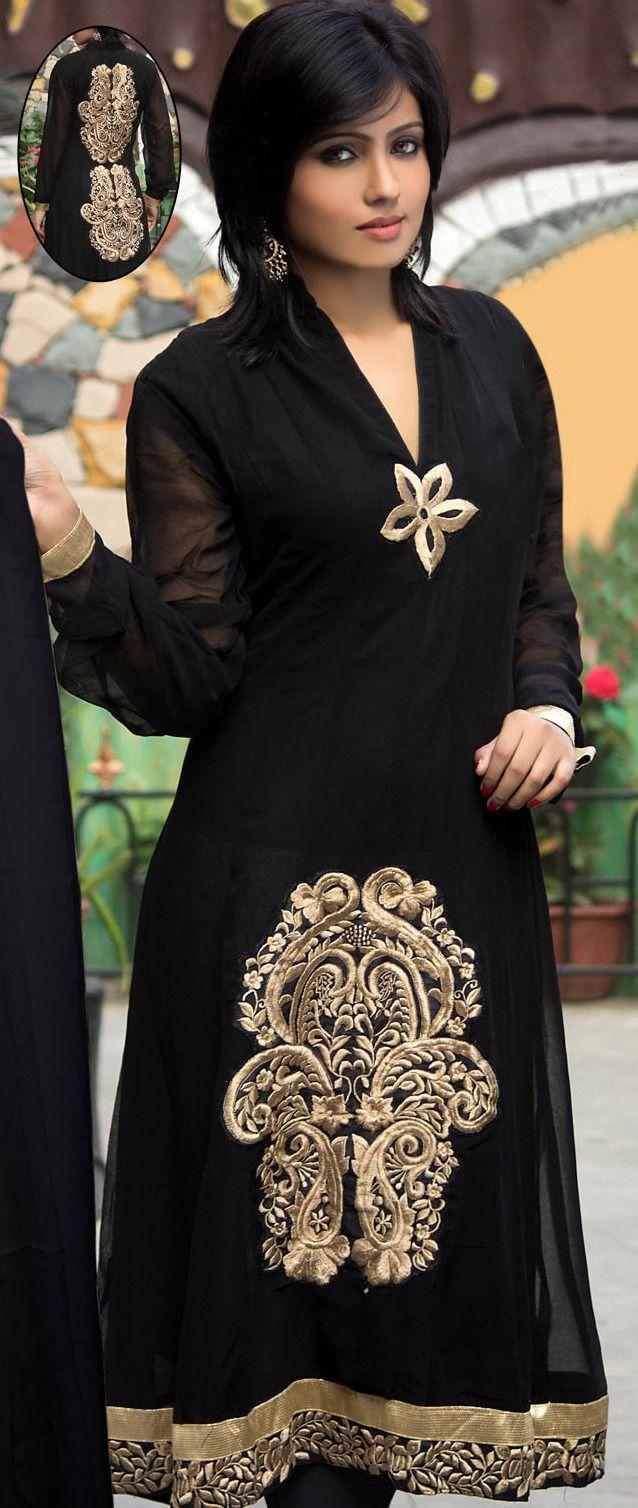 #Black #Anarkali Churidar Kameez @ $102.00