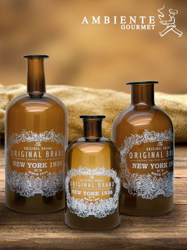 Estas prácticas botellas le dan un toque vintage a tu cocina.