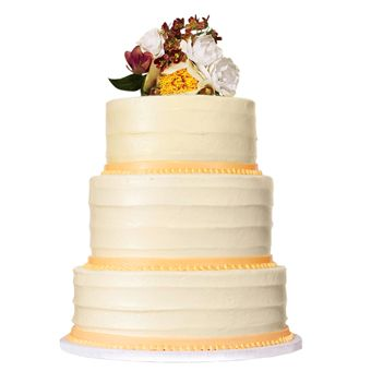 round yellow cake - Wedding carrot cake with cream-cheese frosting, 7.50/slice per slice (serves 94), for a Napa wedding.  Baked. Brides: Style Inspiration: Rustic, Vintage Wedding