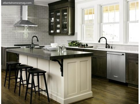 adore the simplicity and colors of kitchen