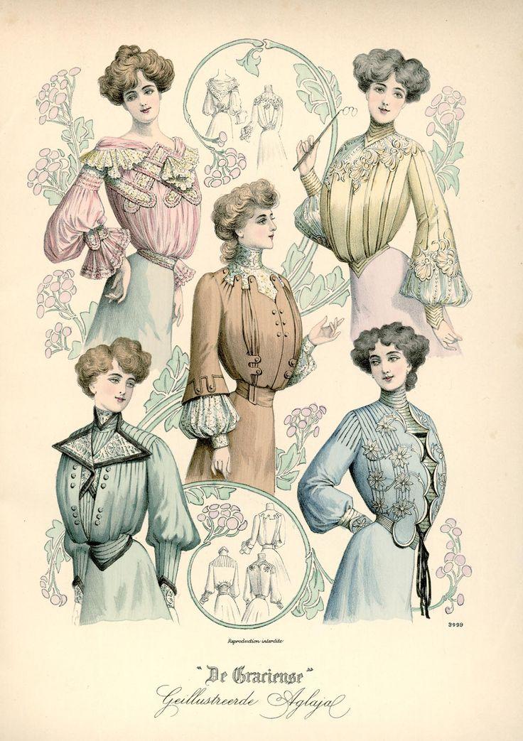 [De Gracieuse] Elegante blouses voor jonge gehuwde dames en jonge meisjes (January 1902)