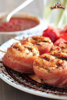 Looking for a new grilled appetizer recipe? Try these bacon-wrapped grilled chicken skewers seasoned with Grill Mates Hot Pepper Blackened Seasoning . Serve as a summer cookout appetizer or a game day party starter.