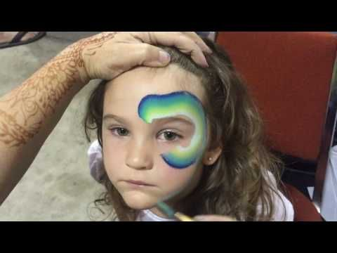 Dino Bite,Face Painting Tutorial - YouTube by Linda Schrenk Amazing Face Painting by Linda Face Painting Jacksonville Florida