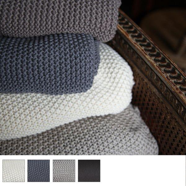 Handmade Chunky Crochet Knit Throw
