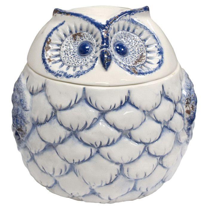 Owl Porcelain Jar