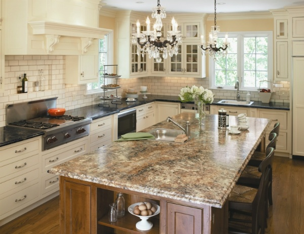 kitchen laminate countertops colors island countertop color pattern white cabinets subway 5298