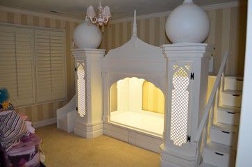 castle beds for girls | Disney Princess Girls Princess Castle Bed - mediterranean - kids - los ...
