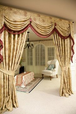 material curtain room dividers swag   All Rooms / Living Photos / Family Room