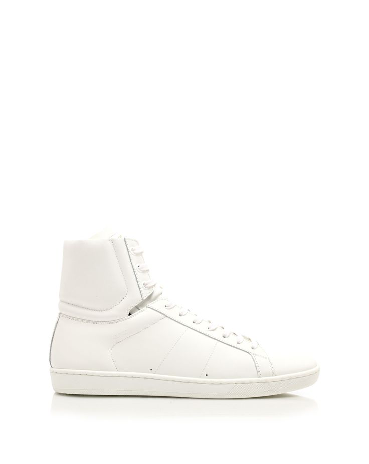 Leather lace-up sneakers with rubber sole by @Yves Saint Laurent
